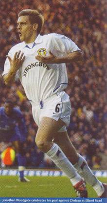 2003 Chelsea Woodgate celebrates his goal